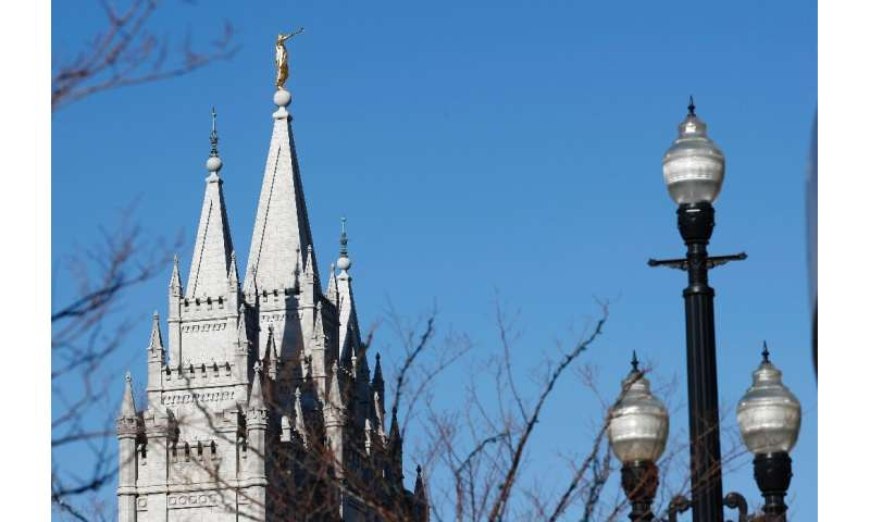 The Salt Lake Temple, one of the Mormon Church's largest and most famous buildings, sustained damage