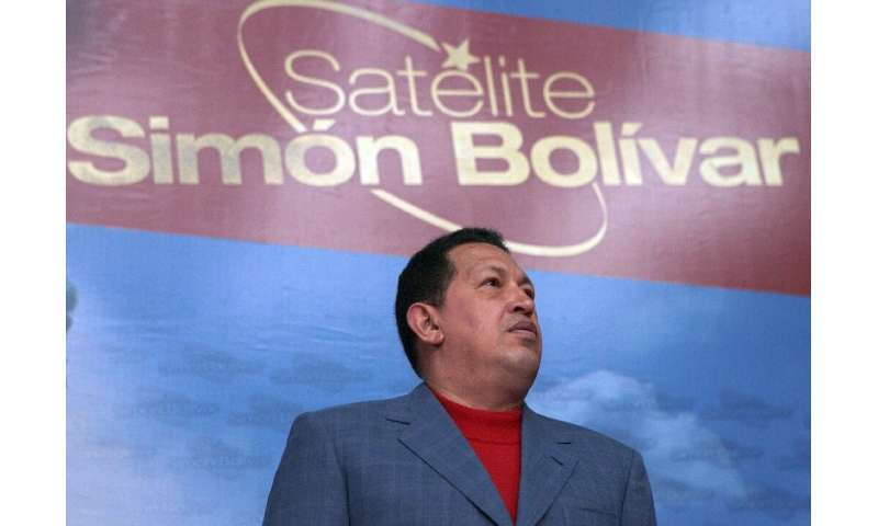 The Simon Bolivar communications satellite was launched in 2008 during the presidency of late Venezuelan leader Hugo Chavez (199