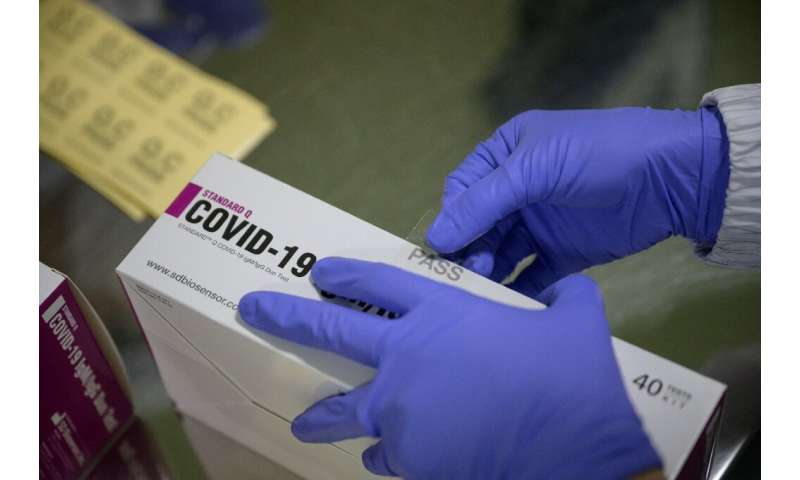 The South Korean factory makes 350,000 coronavirus test kits a day and plans to up that to a more than a million when it starts