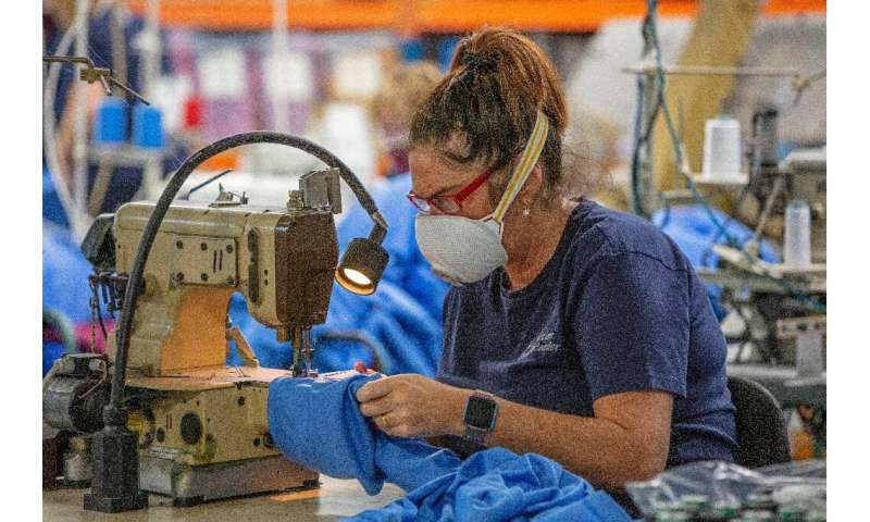 The Strabane factory is currently working to meet an order of 5,000 scrubs