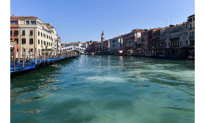 The sudden exodus from Venice has had a dramatic effect on its normally polluted waters