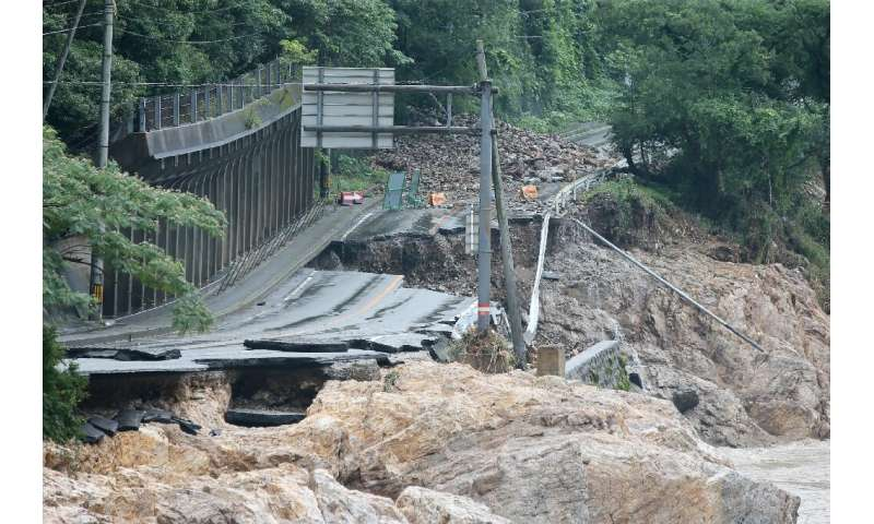 The torrential rain destroyed roads and bridges, cutting off isolated rural communities