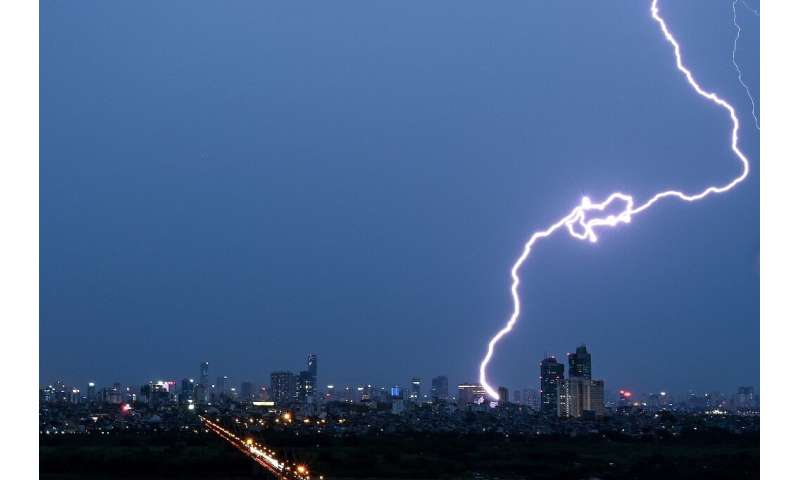 The UN weather agency measures lightning using satellite imagery technology