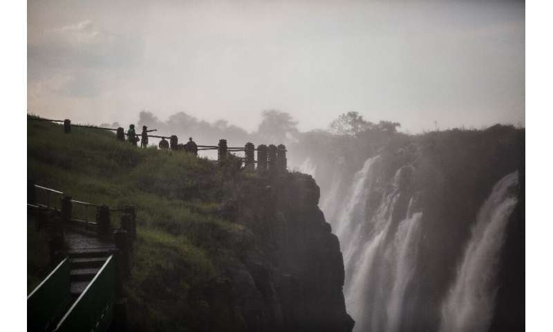The Victoria Falls, pictured on January 23. A viral video last year that appeared to show that the falls had shrunk to a trickle