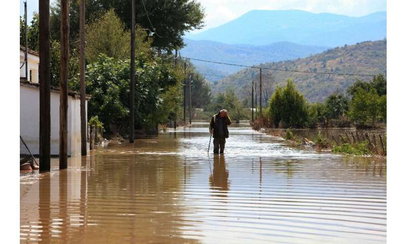 The village of Magoula, central Greece was in the zone hit but the storm