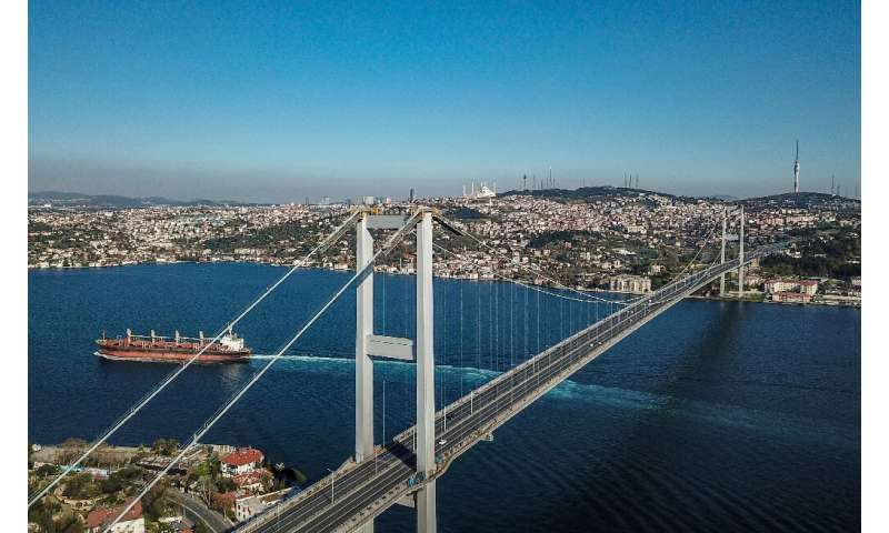The water off Istanbul is abnormally tranquil due to coronavirus restrictions