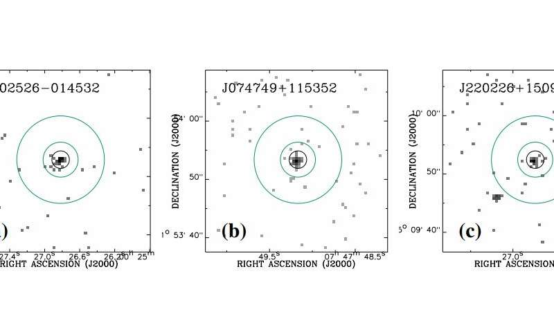 Three high-redshift quasars detected by Chandra