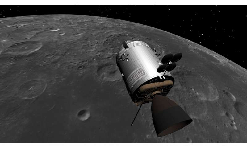 Time-travelling ESA team explore a virtual moon