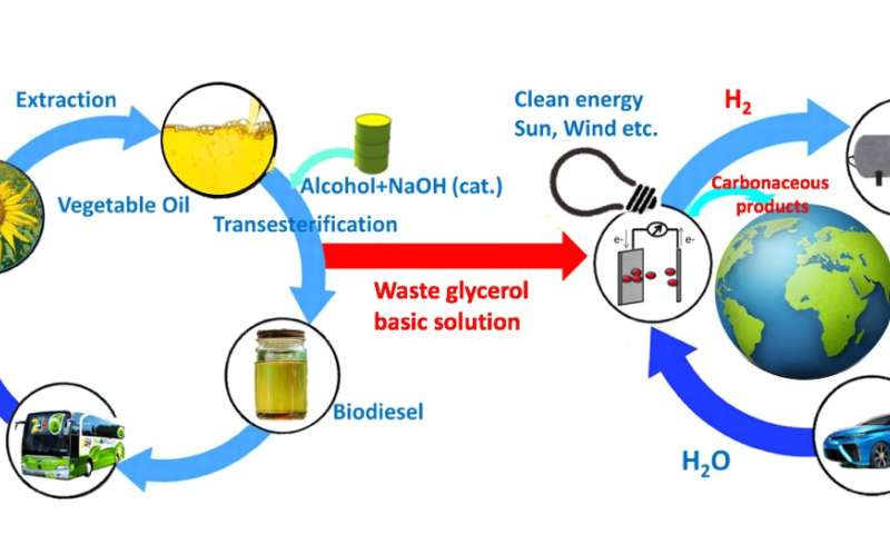 From a by-product of the biodiesel industry to sustainable production of a valuable chemical