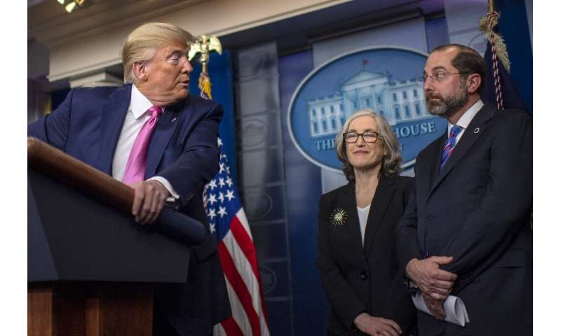 Trump's briefing came after US lawmakers accused the administration of downplaying the crisis and underfunding the response