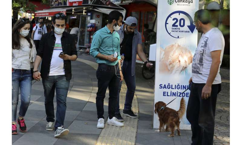 Turkey sees rise in daily coronavirus cases following easing