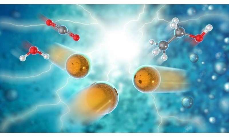 Turning carbon dioxide into liquid fuel