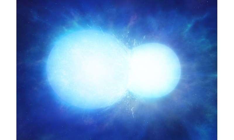 Two stars merged to form massive white dwarf
