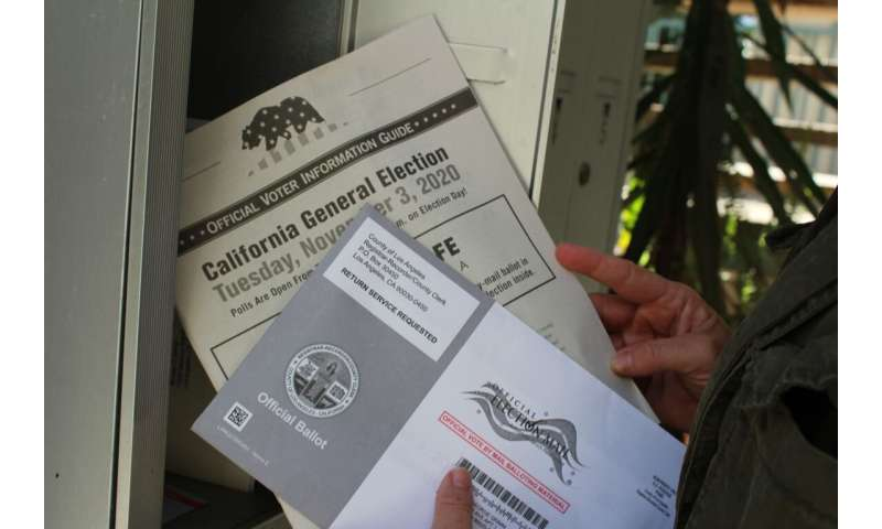 Universal vote-by-mail doesn't favor any party, at least in normal times