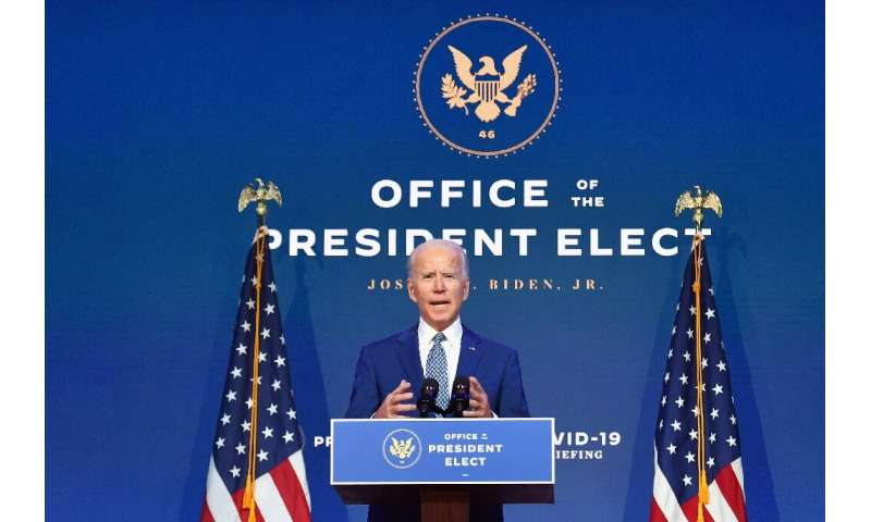 US President-elect Joe Biden has set up a coronavirus task force ahead of his inauguration on January 20, 2021