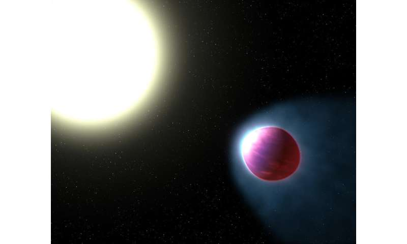 Vaporized metal in the air of an exoplanet