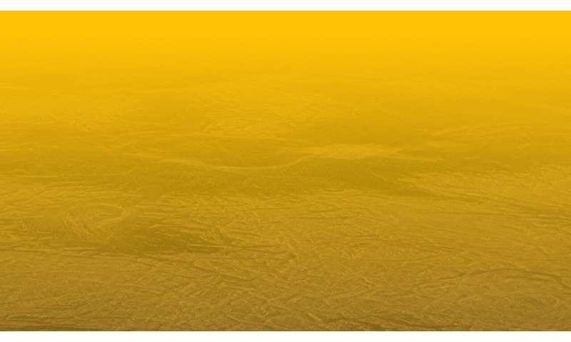 The ancient layered, folded rocks of Venus indicate volcanic origins