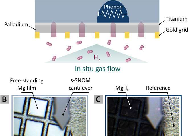 Watching the in situ hydrogen diffusion dynamics in magnesium on the nanoscale