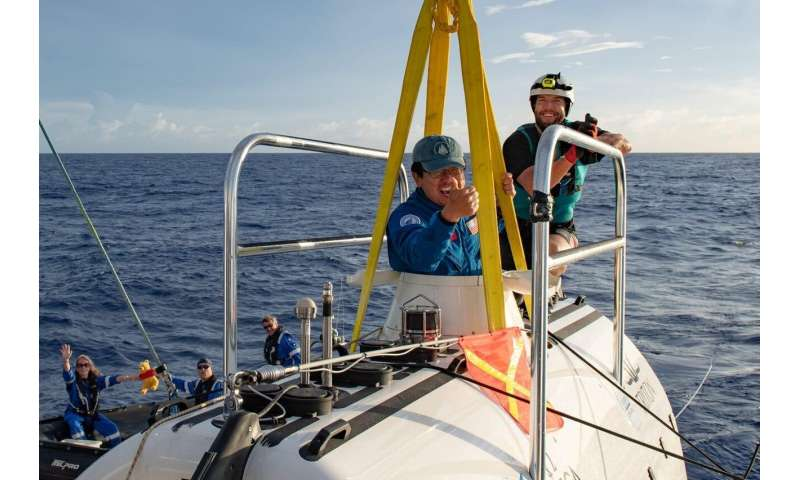 WHOI researcher dives to Challenger Deep