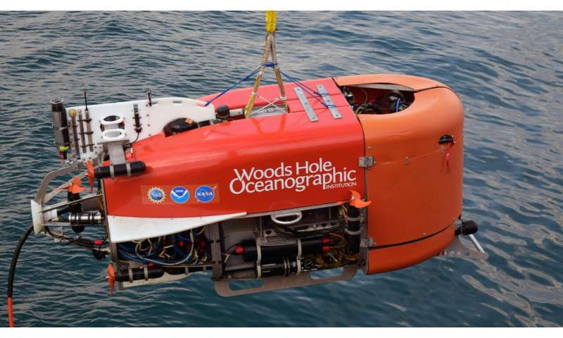 WHOI underwater robot takes first-known automated sample from ocean