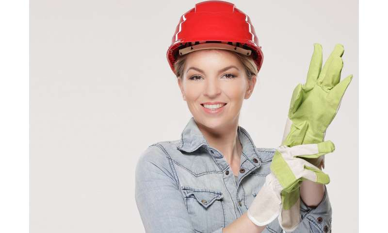 woman construction