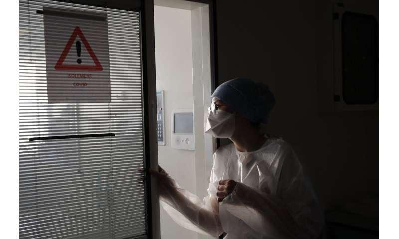 French virus surge raises harrowing specter of ICU overloads