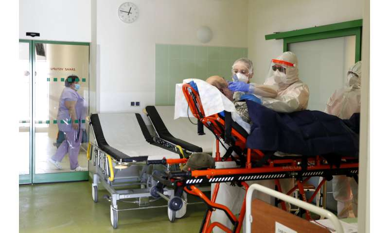 Virus surges anew in central Europe in face of new variants