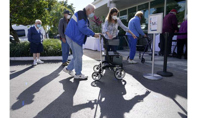 Race to vaccinate older Americans advances in many states