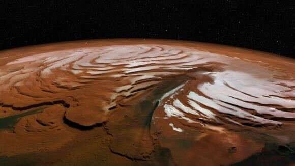 Here's the best place for explorers to harvest ice on Mars