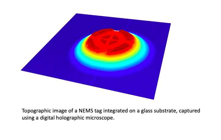 ID NEMS: tag nanoelectromechanical aman untuk identifikasi dan otentikasi