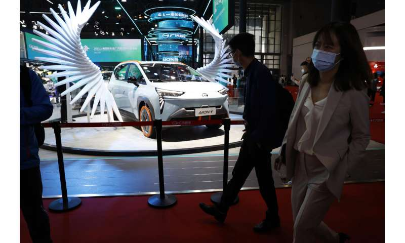 New SUV models star at China auto show under virus controls