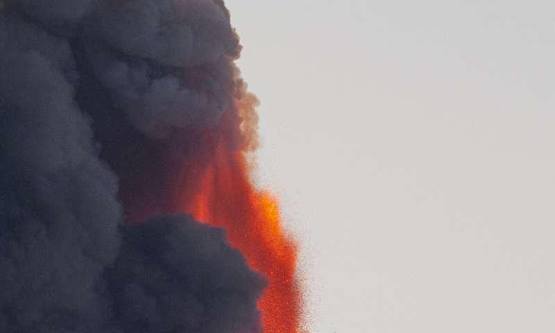 Sicilian village cleans up ash, stones from Mt Etna eruption