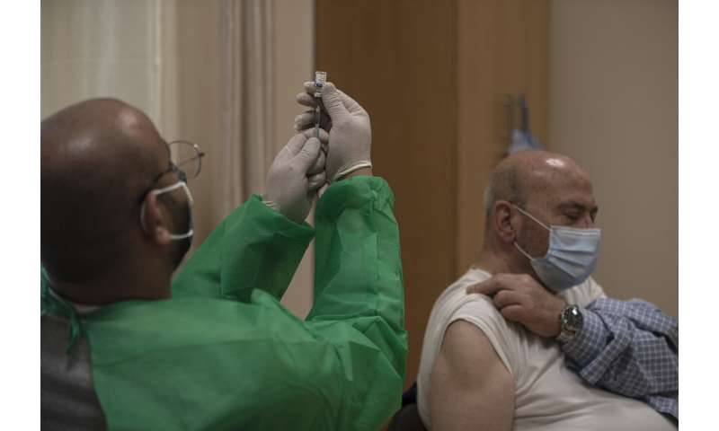 Palestinians get 60,000 vaccine doses through WHO program