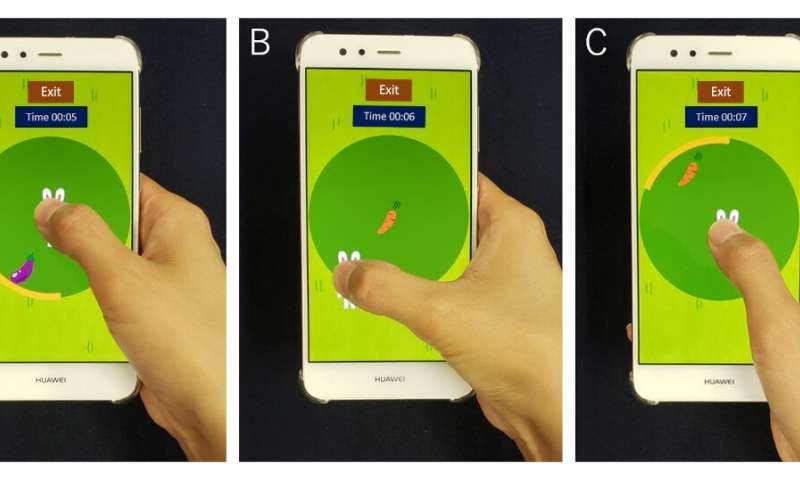 Detecting for carpal tunnel syndrome with a smartphone game