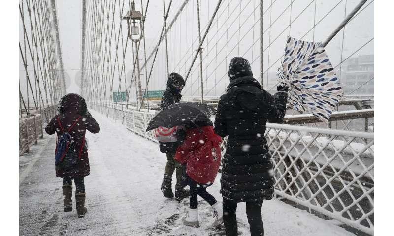 2nd major snowstorm in a week blankets Northeast