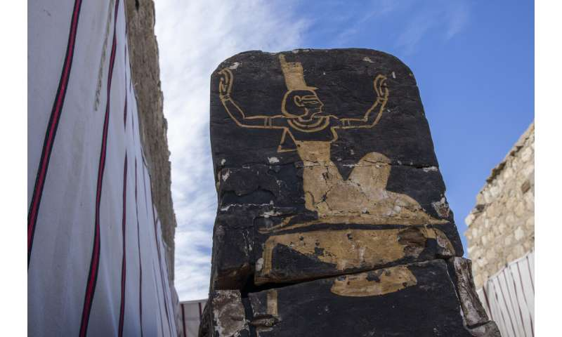 Egypt unveils ancient funerary temple south of Cairo