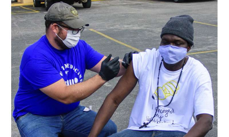 Homeless Americans finally getting a chance at COVID-19 shot