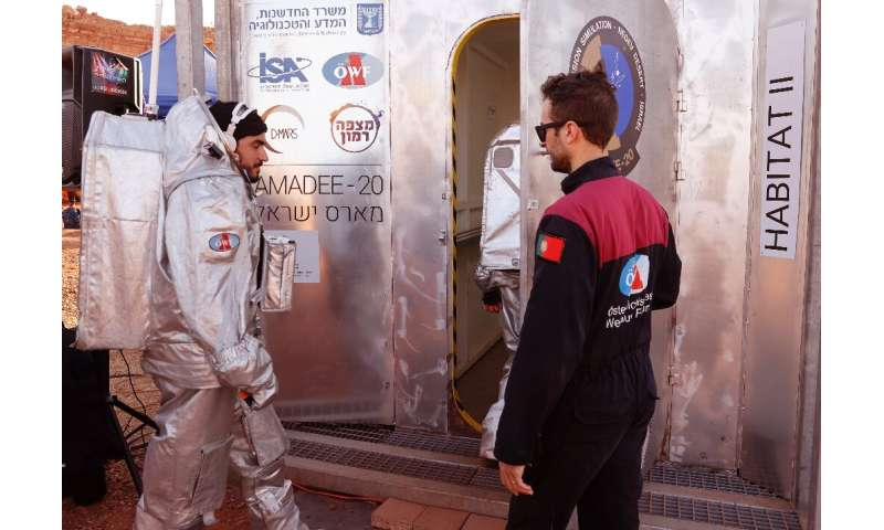 An astronaut from the team enters the sealed habitat, to be supervised by a Mission Support Center in Austria