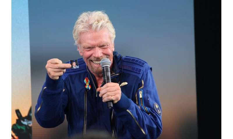 Billionaire Richard Branson reaches space in his own ship