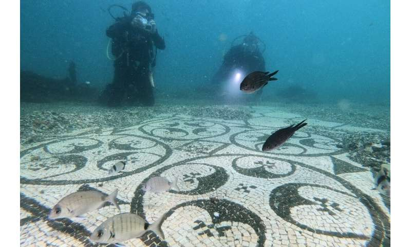 By the 4th century, the porticos, marble columns, shrines and ornamental fish ponds of Baiae had begun to sink due to bradyseism