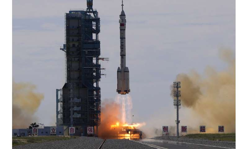 Chinese crew enters new space station on 3-month mission