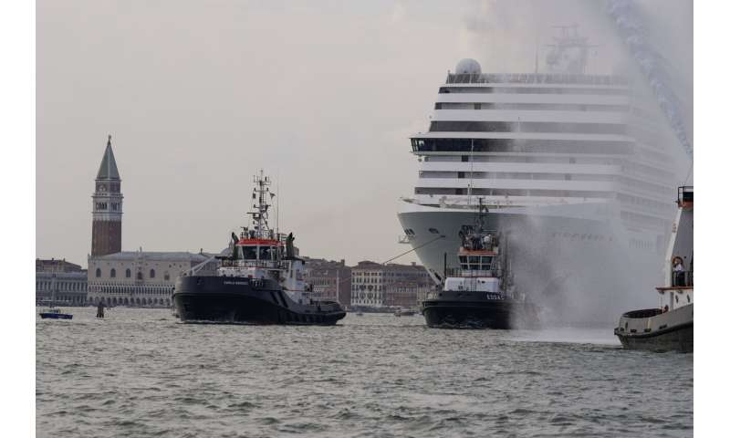 Cruise ships restart in Venice, bring environmental protests