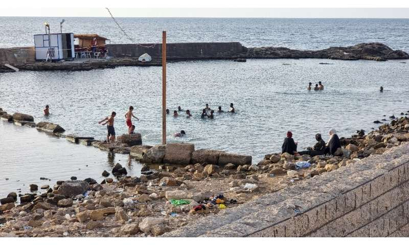 Daily discharges of untreated sewage from the capital's two million population make the Tripoli shore the most polluted section