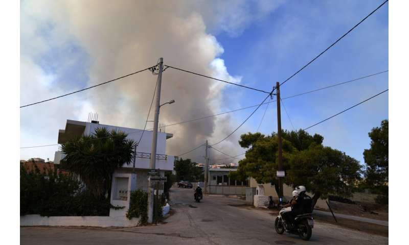Greece wildfires: 2 new blazes burning outside of Athens