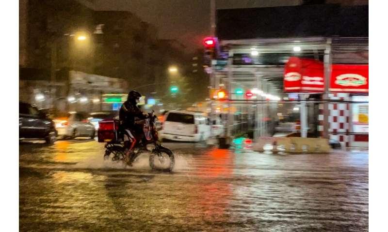 Las fuertes lluvias trajeron el caos a la ciudad de Nueva York