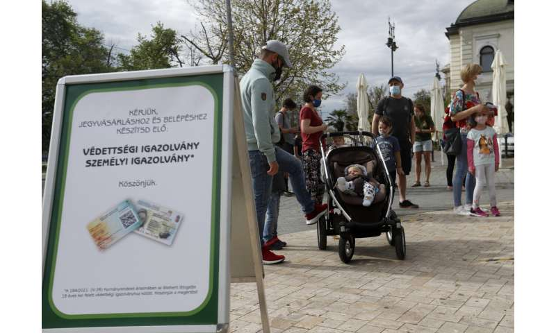 Hungary reopens for people holding COVID-19 immunity cards