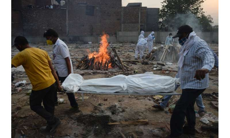 India is the world's second-most infected after the United States with nearly 23 million Covid-19 cases, and is currently record