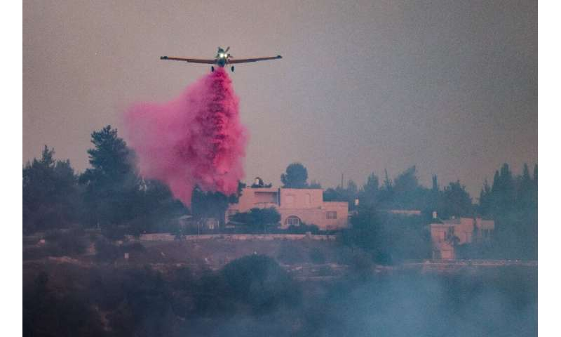 Israeli authorities have deployed firefighting aircraft to tackle the blaze