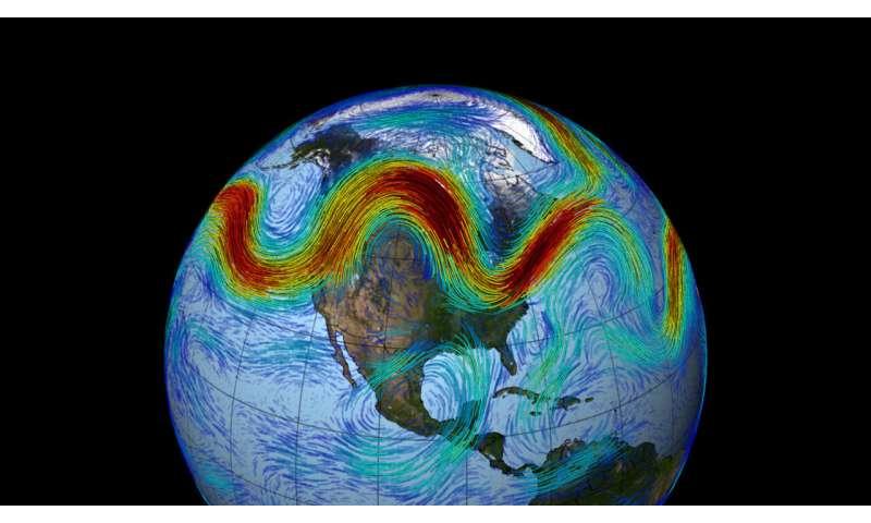 I cambiamenti della corrente a getto potrebbero amplificare gli estremi meteorologici entro il 2060