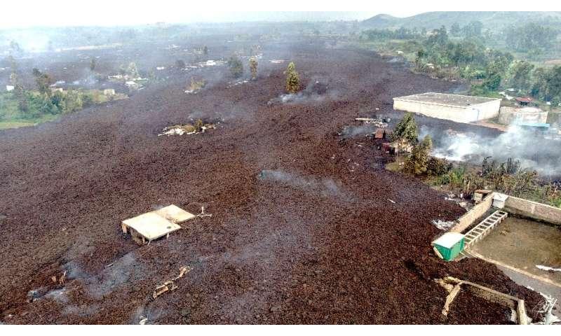 Lava engulfed Bushara, a village on the outskirts of Goma